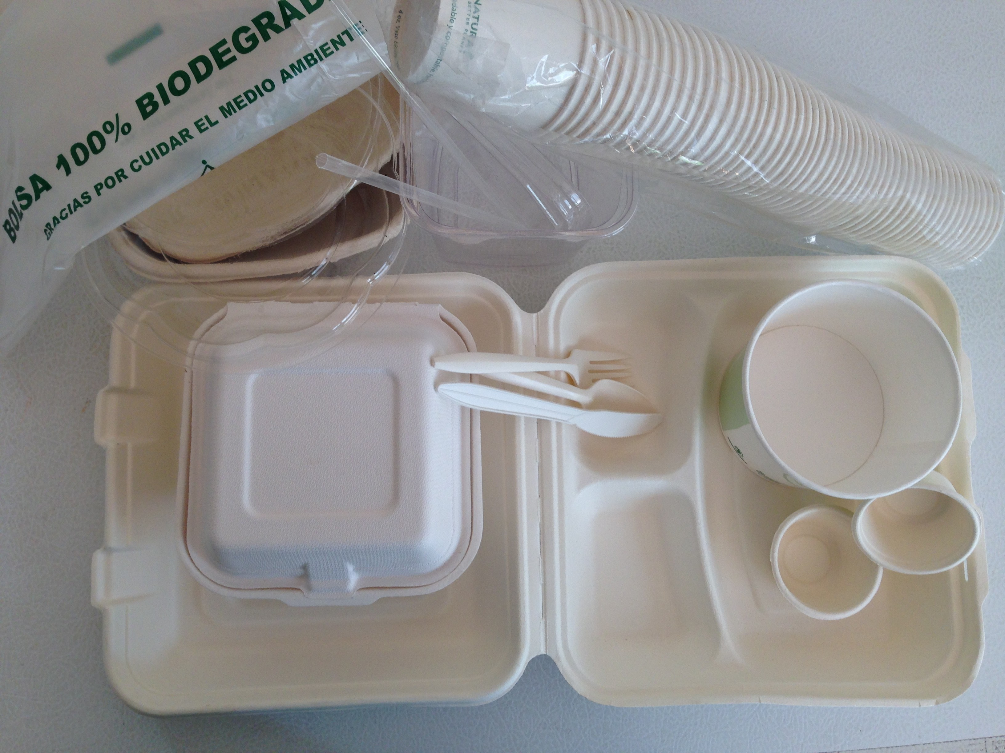 Desechables biodegradables